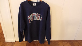 Putnam Sweatshirt in Navy Color w Bold Letters Size XL Made in USA by Lee VG+ image 2