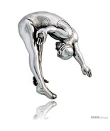 Sterling Silver Acrobatic Diver Brooch Pin, 1 1/4in  (32 mm)  - $55.72