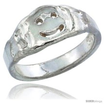 Sterling silver smiley face baby ring kids ring toe ring available in size 1 to 5 thumb200