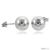 Sterling Silver 10 mm Ball Stud Earrings Large (3/8  - $35.94