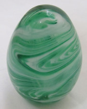 Paperweight Gibson 199 Crystal Green Cyclone Made  - $17.99