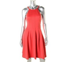 Calvin Klein Womens Pink Pleated Knee-Length Cocktail Dress  10   $134 - $75.00