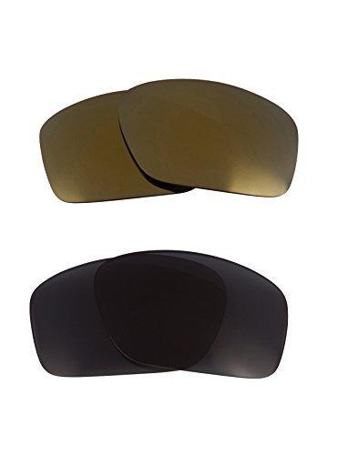 New SEEK OPTICS Replacement Lenses Oakley SCALPEL - Grey Gold