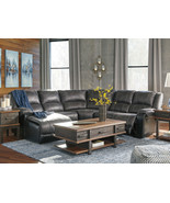 INTRIGUE Living Room 5pcs Gray Faux Leather Reclining Sofa Couch Section... - $1,649.72