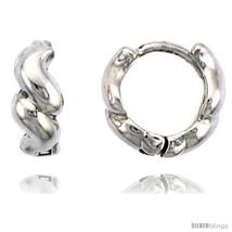 Sterling Silver Swirl Huggie Hoop Earrings, 3/8in  (10  - $27.98
