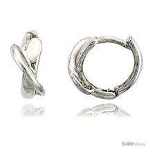 Sterling Silver Crisscross Huggie Hoop Earrings, 3/8in  (10  - $27.98