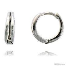 Sterling Silver Huggie Hoop Earrings, 7/16in  (11  - $27.98
