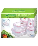 Lasting Freshness Vacuum Seal Food Storage System Set Rectangular 21pc - €59,24 EUR