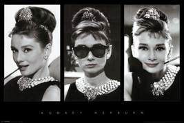 Audrey Hepburn Breakfast at Tiffanys Photo Collage 24x36 Movie Poster  - $22.99