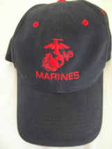 Marines Hat/Cap - Blue with Red Trim - One Size-NWOT - $8.99