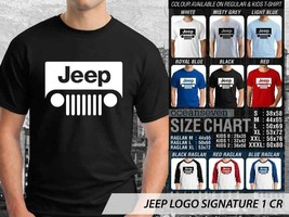 T shirt JEEP LOGO SIGNATURE Many Color & Design Option T-Shirt - $10.99+
