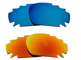 New SEEK Replacement Lenses Oakley Vented Racing Jacket - Blue Yellow - $23.25