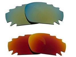 New SEEK Replacement Lenses Oakley Vented Racing Jacket - Red Green - $23.25