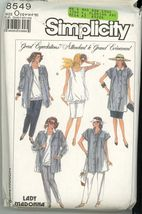 Simplicity 8549 MaternityBlouse, Skirt, pants, pullover top Size 12-14-1... - $5.50
