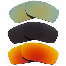 New Seek Replacement Lenses Oakley Fives Squared Polarized Black Green Red - $48.48