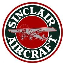 """Sinclair Aircraft 14"""" Diameter Metal Sign - $29.95"""