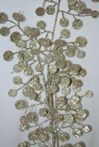 Unbranded Glittery Gold Decorative Disc Tree 29 Inches Spray image 3