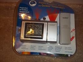 La Crosse WT-5220U-IT-CBP Atomic Projection Alarm Clock w/Indoor  - $39.59
