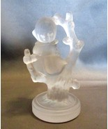 Goebel Hummel Frosted Crystal  Little Girl Sitting on Tree Germany Signed - $11.00