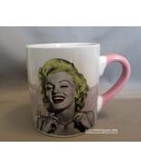 1985 Marilyn Monroe Ceramic Coffee Mug Tea Cup Pink Handle by Radio Days - $6.79