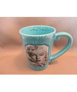 Robin Egg Blue Marilyn Monroe Ceramic Coffee Mug w Facismile Signature b... - $6.79