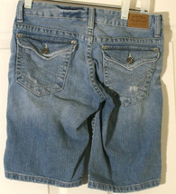 AEROPOSTALE DISTRESSED WOMEN GIRLS BLUE JEAN SHORTS S 0 0 LONG LENGTH LI... - $3.95