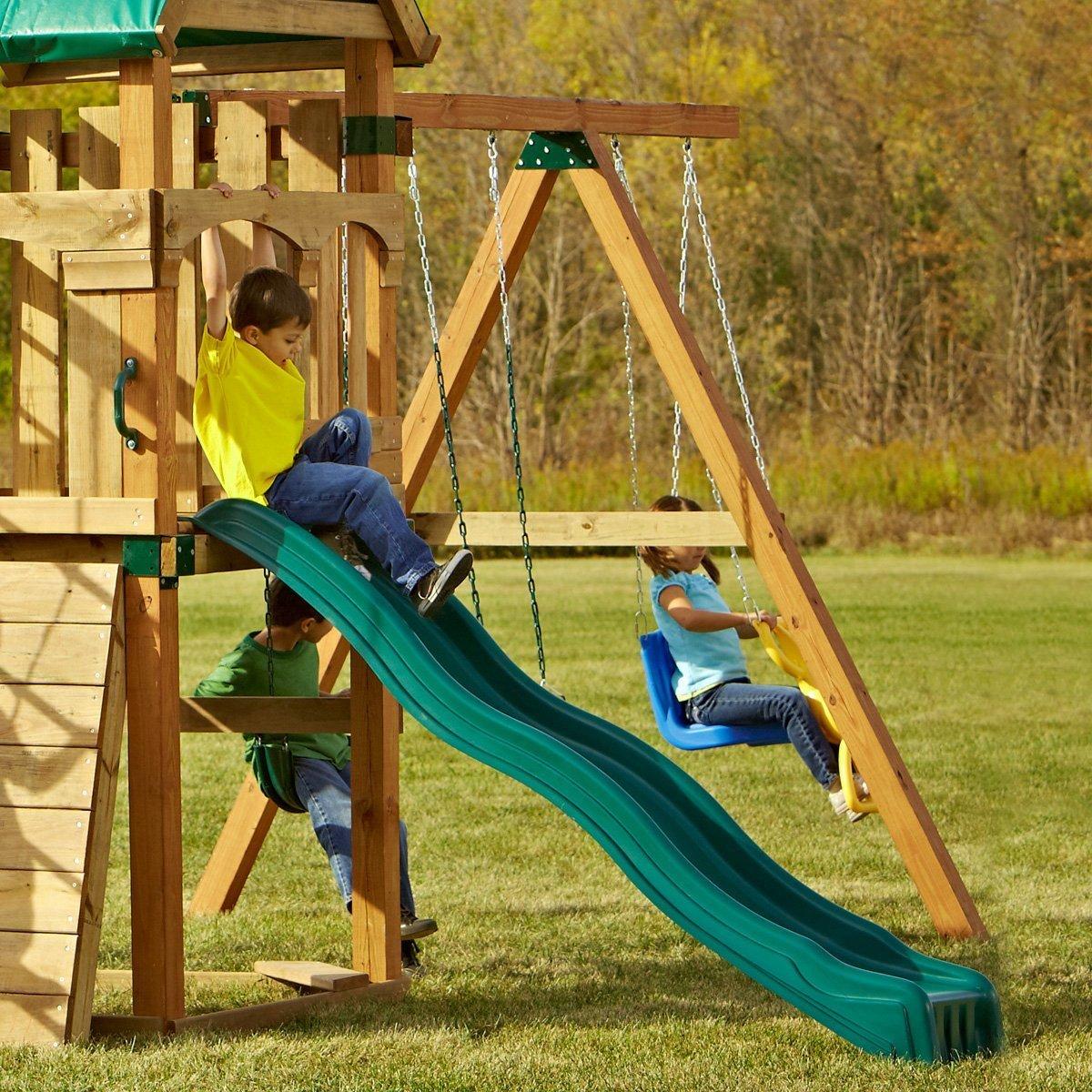 Swing Set Slide Wave Outdoor Kids Playground Playset ...