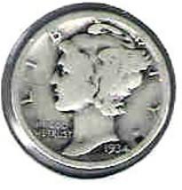 Nice 1934 D Mercury Dime - $4.00