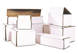 100 - 10 x 4 x 3 White Corrugated Shipping Mailer Packing Box Boxes - $69.95