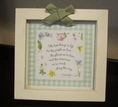 """Hallmark Marjolein Bastin Framed Picture """"The best things in life are..."""" decor - $13.99"""