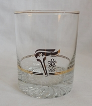 Olympic Torch 10 oz Gold Rimmed Glass Tumbler - $1.49