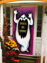 Halloween Spooky Ghost-TRICK or TREAT Door Banner Cover Wall Mural Decor... - $6.99