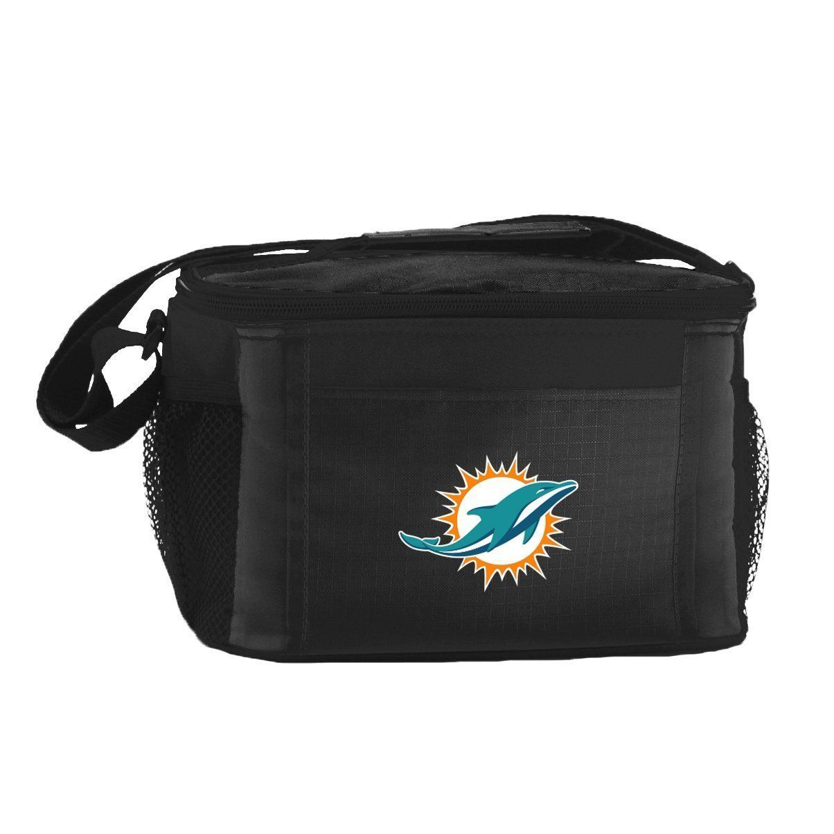 MIAMI DOLPHINS LUNCH TOTE 6 PK BEER SODA TEAM LOGO KOOLER BAG NFL FOOTBALL