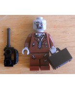 LEGO Halloween Zombie Minifigure Office Guy with Briefcase & Phone NEW - $10.21