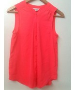 American Eagle Outfitters Hot Pink Button Down Sleeveless Blouse Tank To... - $14.95
