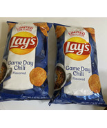 2-Lay's Potato Chips Game Day Chili Flavored 7 3/4 Oz Limited Edition SU... - $29.69