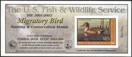 RW68A, $15 Northern Pintail DUCK Stamp Self-Adhesive Pane - Stuart Katz - $25.00