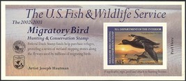 RW69A, DUCK STAMP SELF-ADHESIVE PANE - PRICED TO SELL QUICKLY - $23.00