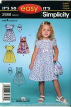Simplicity Toddler Girls Sundress Dress Sewing Pattern 2688 UC FF Uncut ... - $2.00