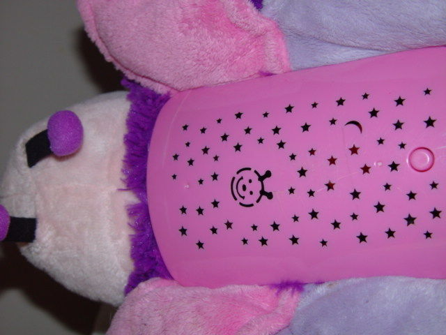 Pillow Pets Dream Lites Pink Butterfly  It turns three different colors.