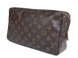 Auth LOUIS VUITTON TROUSSE TOILETTE Monogram Canvas Cosmetic Pouch Bag L... - $189.00