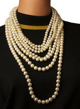 """New Trendz 7 strand 16"""" graduated faux pearl necklace - $18.79"""