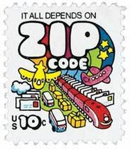1974 10c Zip Code, Plane & Train Scott 1511 Mint F/VF NH - $0.99