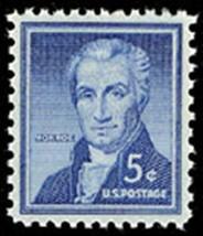 1954 5c James Monroe, 5th President of the United States Scott 1038 Mint... - $0.99