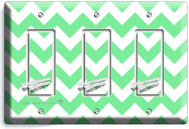 CHEVRON LITE GREEN STRIPES PASTEL TRIPLE GFI LI... - $14.39