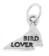STERLING SILVER 925 BIRD LOVER CHARM/PENDANT - $8.59