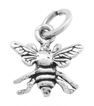 STERLING SILVER 3 DIMENSIONAL INSECT BEE CHARM / PENDANT - $8.59