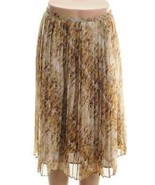 Jones New York Montauk Brown Sheer Printed Pleated Skirt  16W - $19.50
