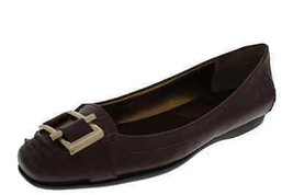 Nine West Kadie New Brown Leather Embellished Loafer Flat Shoes Medium (... - $34.99