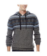 BRAND NWT Men's i jeans by Buffalo Lox Hooded Sweater Winter Xmas Size L... - $49.99